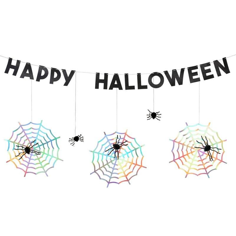 Halloween Spiderweb Garland