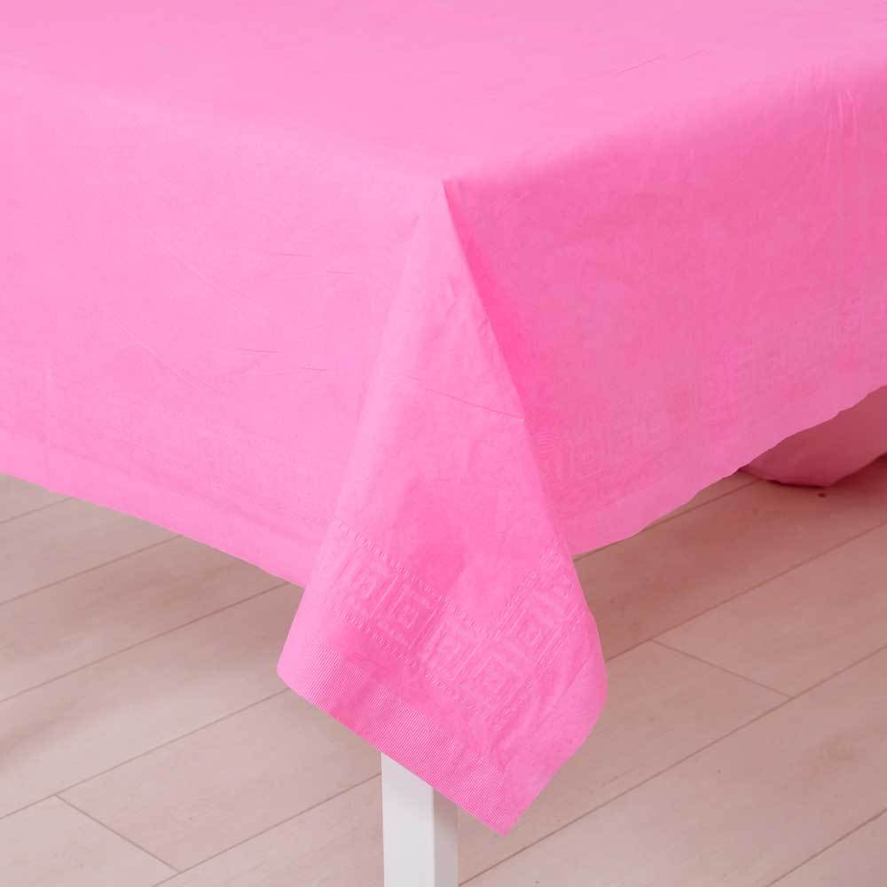 Paper Party Table Cover Bright Pink