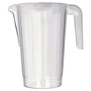 A large, transparent plastic party drinks jug