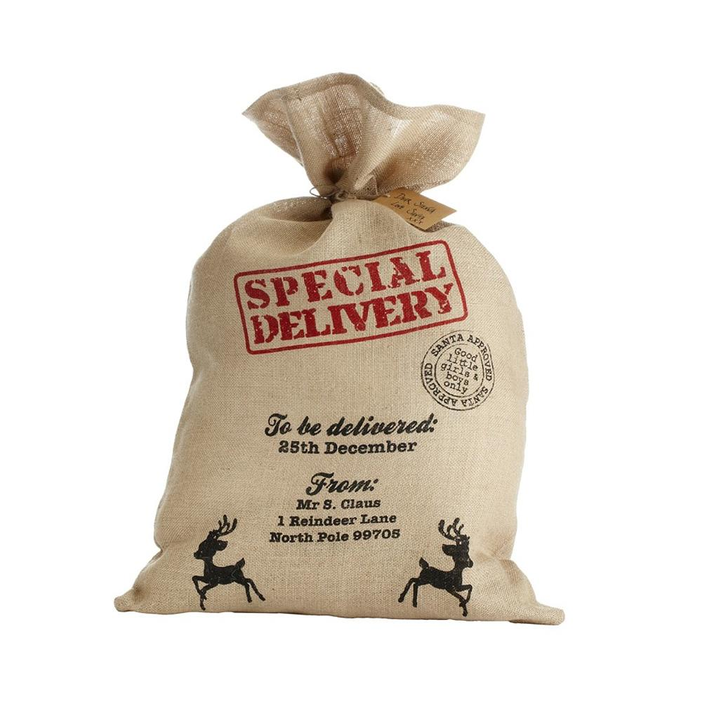 Special Delivery Hessian Christmas Sack