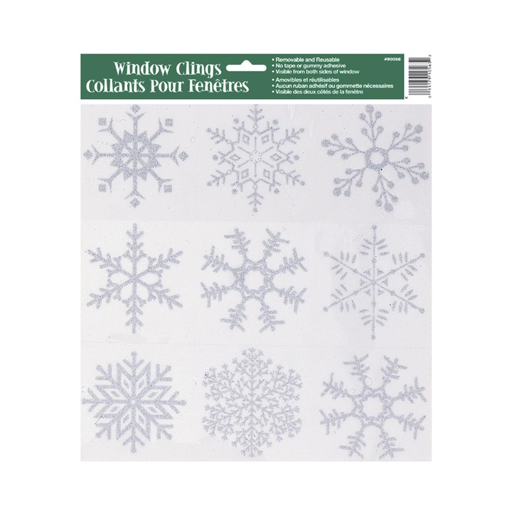 Glitter Snowflake Window Cling