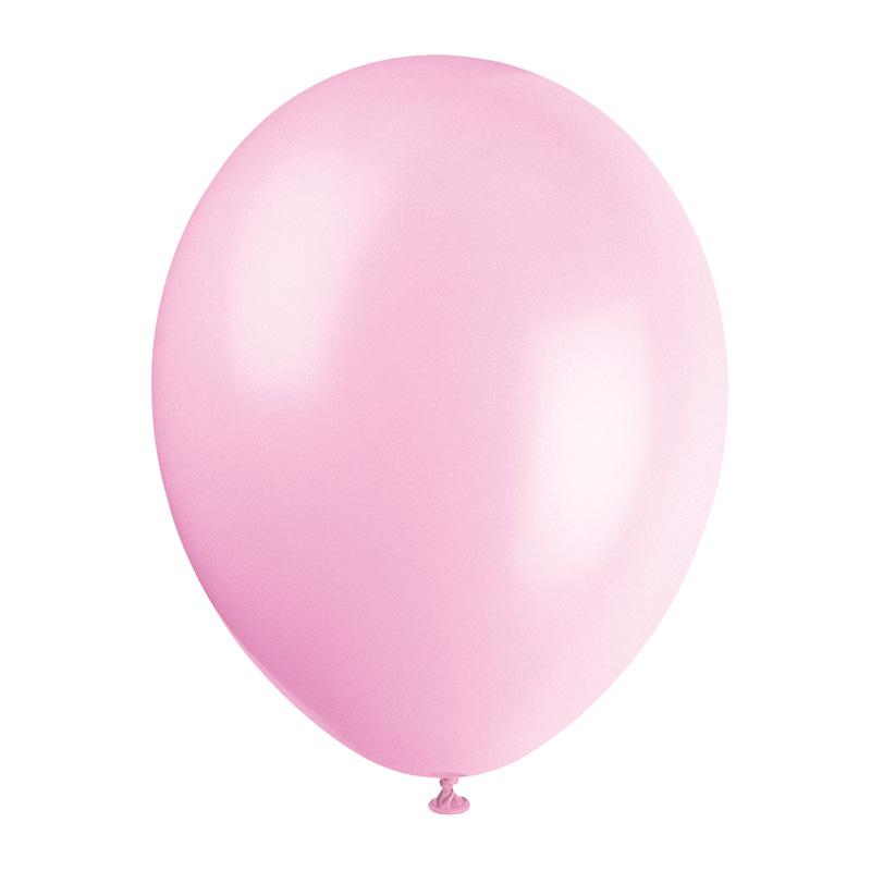 Latex Party Balloons Pale Pink (x10)