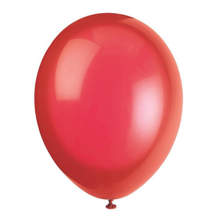 Metallic Latex Balloons - Red (pkt 10)