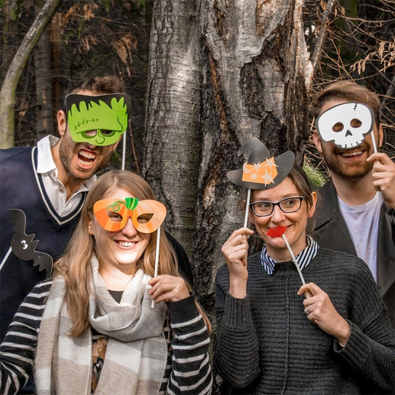 Paper Halloween Photo Booth Props (x10)