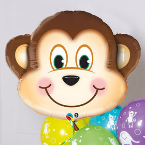 Supershape Monkey Helium Balloon