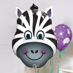 Supershape Zebra Helium Balloon