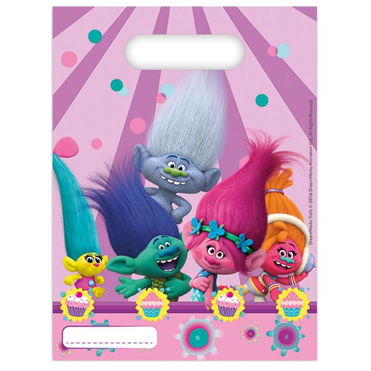 Trolls Party Bags (x6)