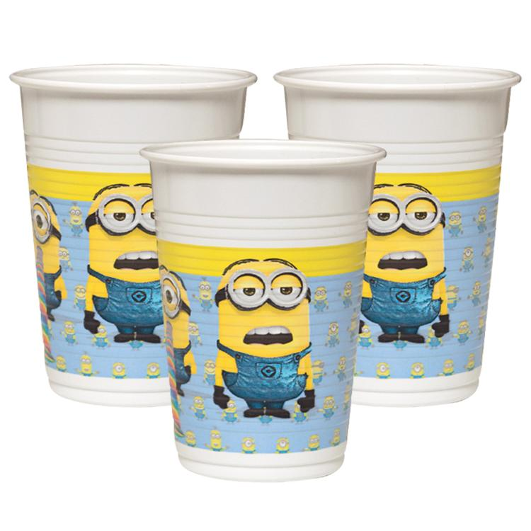 Lovely Minions Plastic Party Cups (x8)