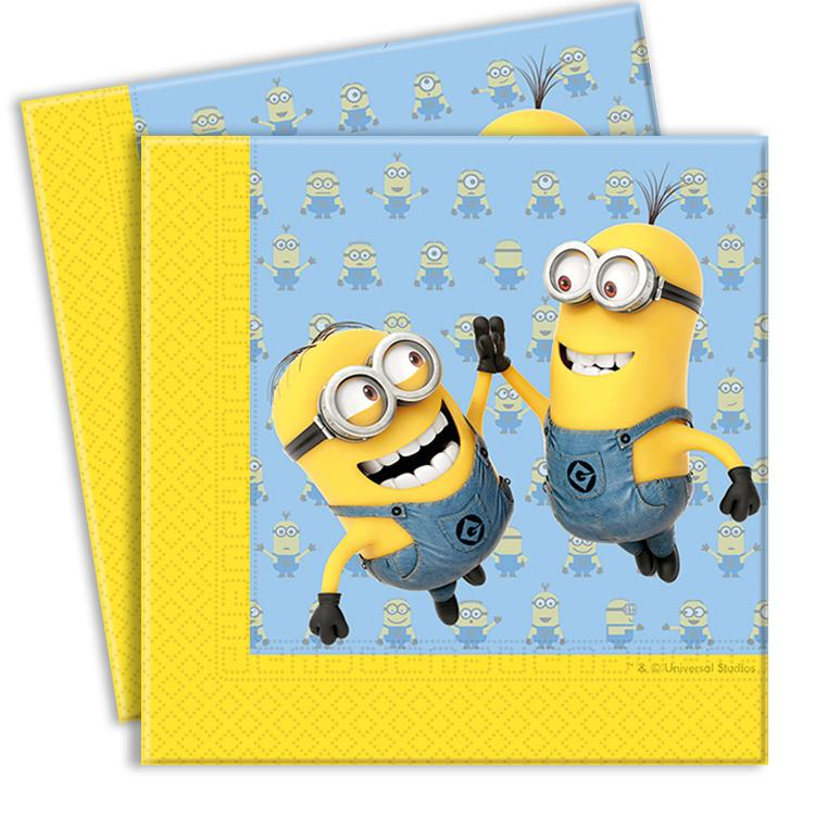 Lovely Minions Party Napkins (x20)