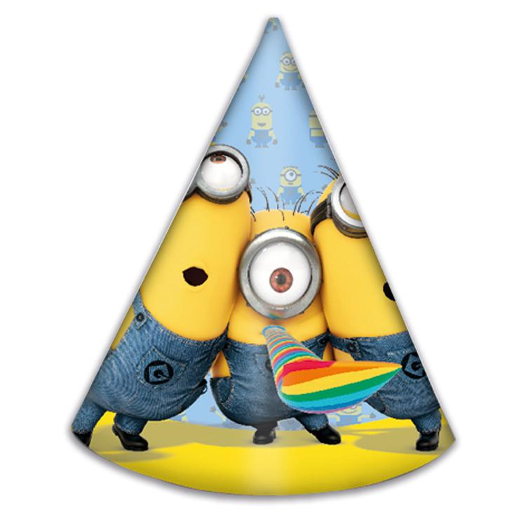 Lovely Minions Party Hats (x6)