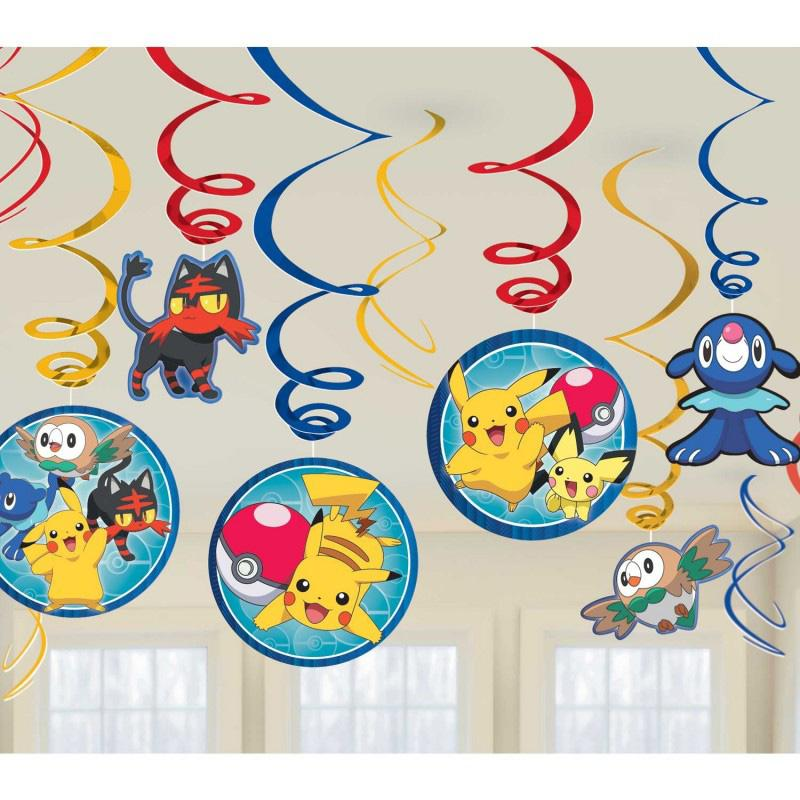 Pokemon Party Ceiling Decorations (x12)