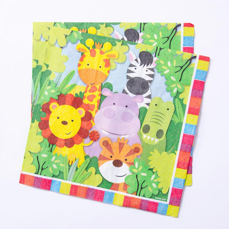 Jungle Friends Lunch Party Napkins (x20)
