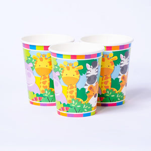 Jungle Friends Paper Party Cups (x8)