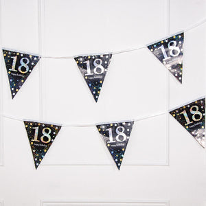 18th Birthday Gold Celebration Foil Flag Banner