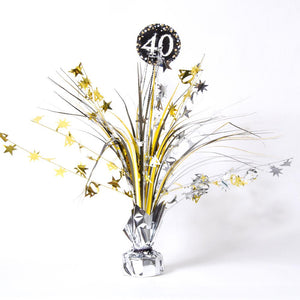 40th Birthday Gold Celebration Spray Centrepiece