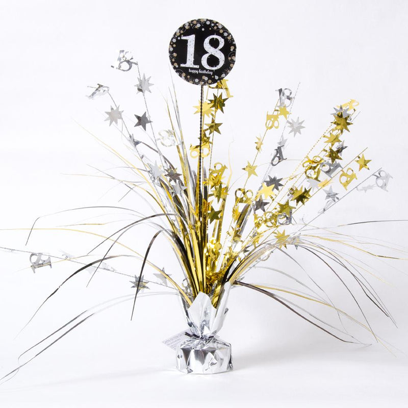 18th Birthday Gold Celebration Spray Centrepiece