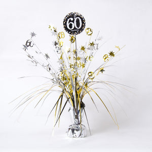 60th Birthday Gold Celebration Spray Centrepiece