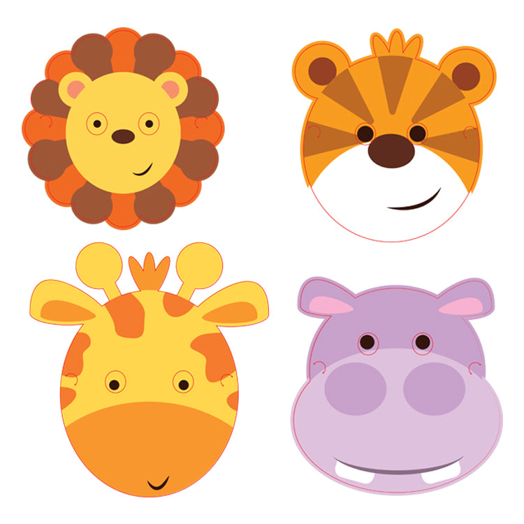Jungle Friends Party Face Masks