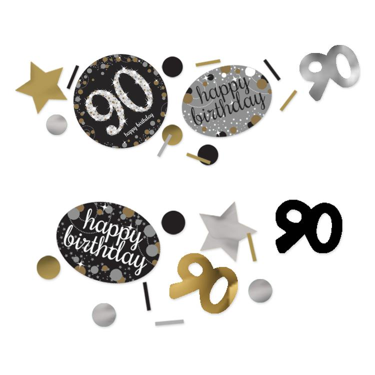 90th Birthday Gold Celebration Confetti