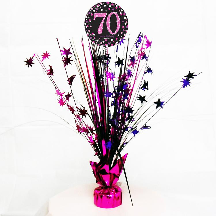 70th Birthday Pink Celebration Spray Centrepiece