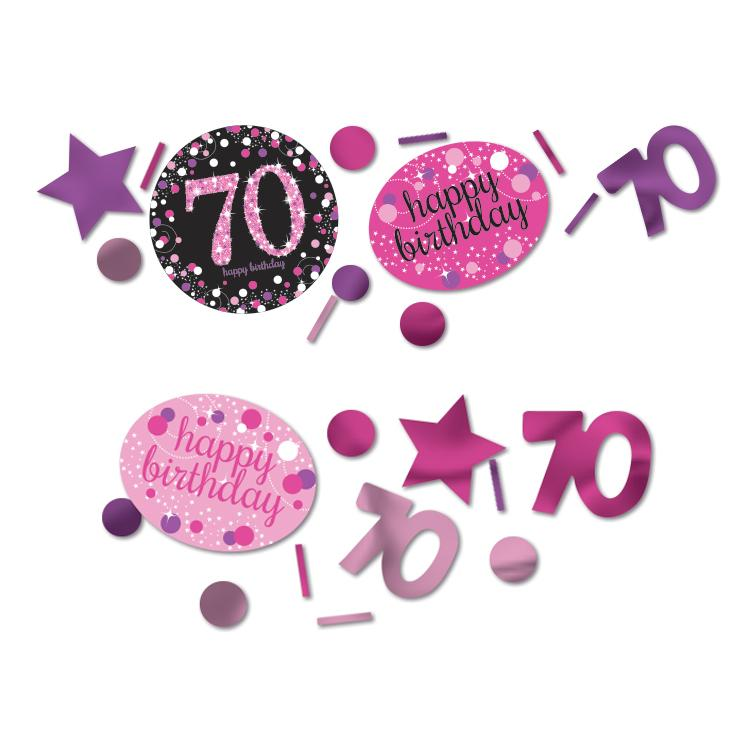 70th Birthday Pink Celebration Confetti