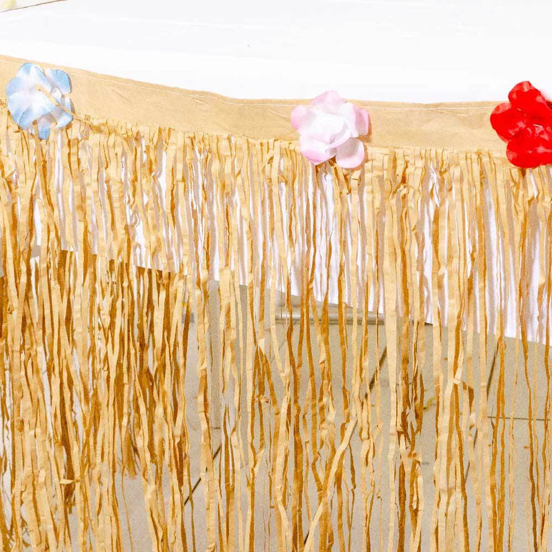 Natural Tissue Party Table Skirt