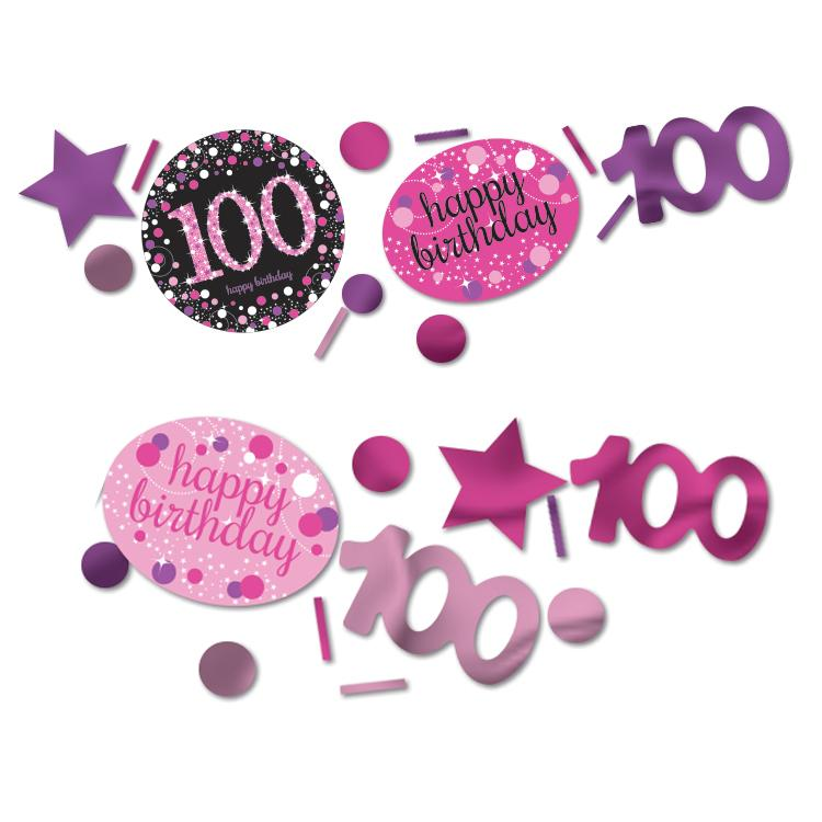 100th Birthday Pink Celebration Confetti
