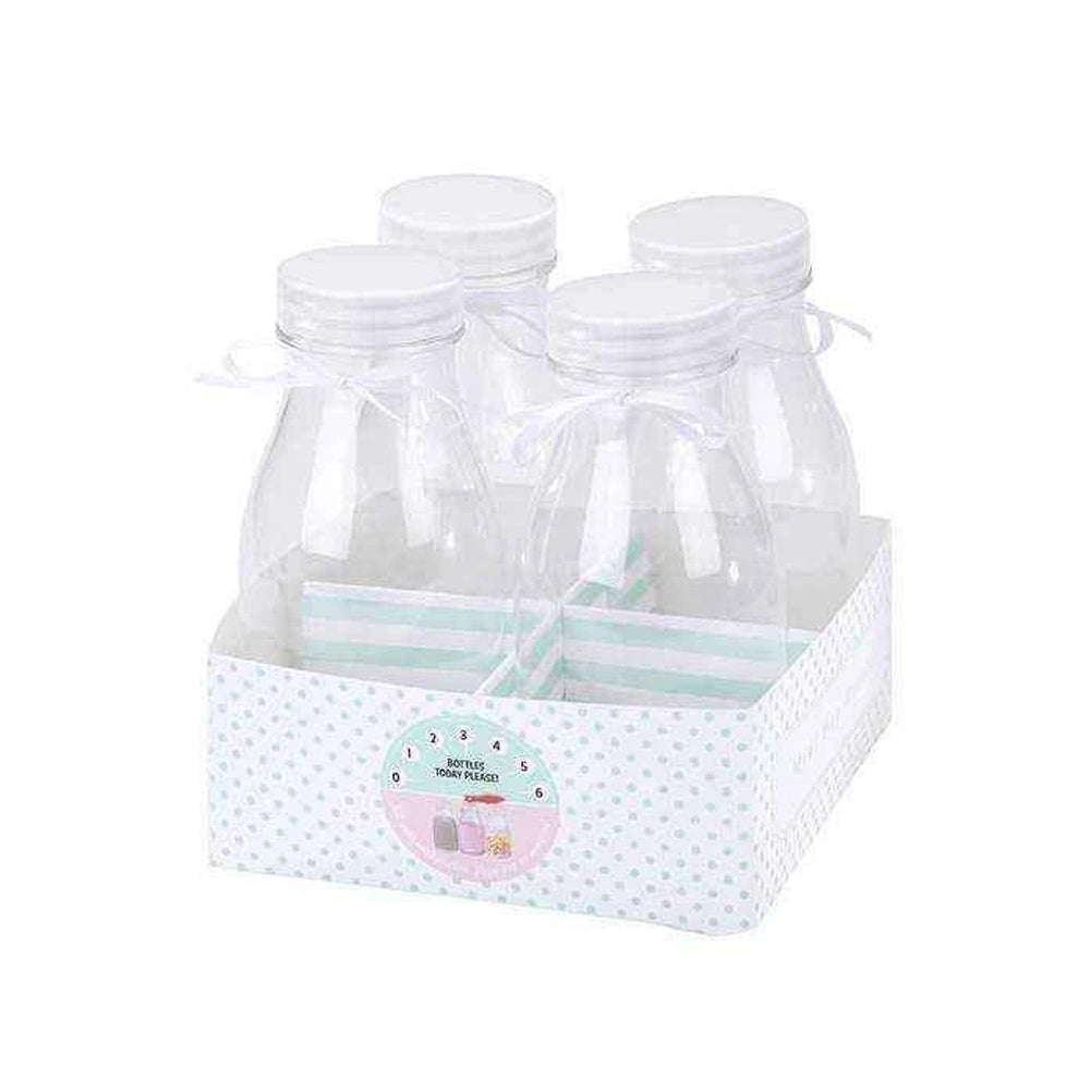 Mini Milk Bottles (x4)