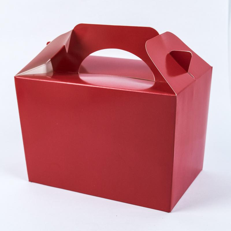 Party Boxes Red (x4)
