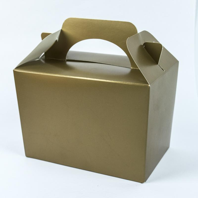 Party Boxes Metallic Gold (x4)