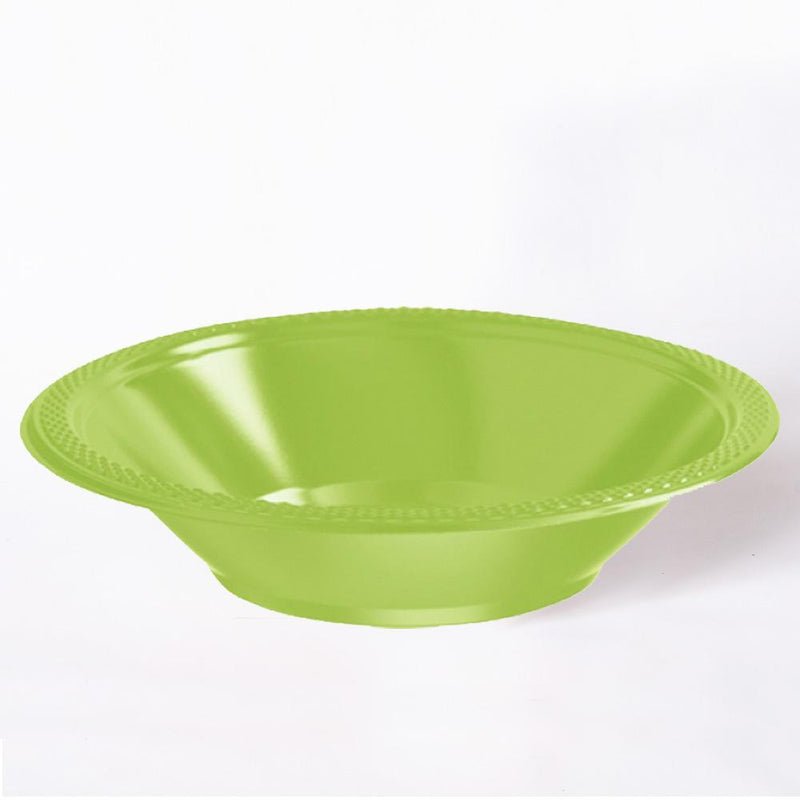 A shiny green plastic party bowl