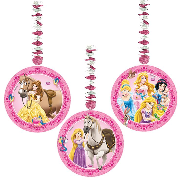 Disney Princess And Animals Party Hanging Swirls (x3)