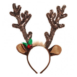 Sequin Antler Head Band