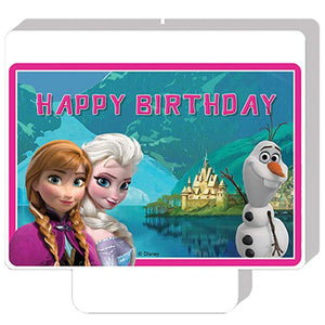 Disney Frozen Party Happy Birthday Candle