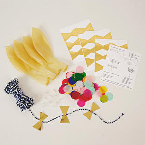 Multi-Coloured Confetti Balloon Kit (x8)