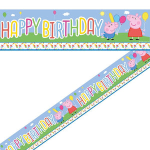 Peppa Pig Party Foil Banner