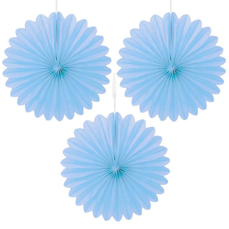 Decorative Paper Fan Pale Blue