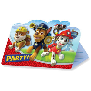 Paw Patrol Party Invitations (x8)