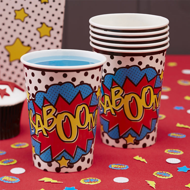 Comic Superhero Paper Party Cups