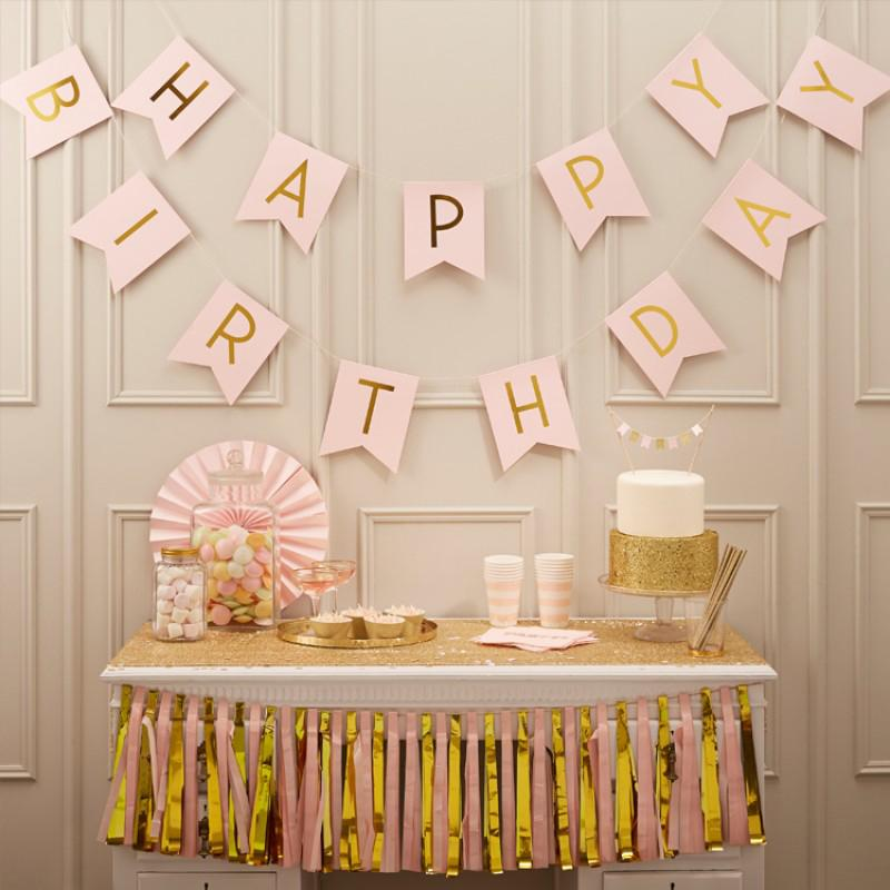 Pastel Pink Party Bunting