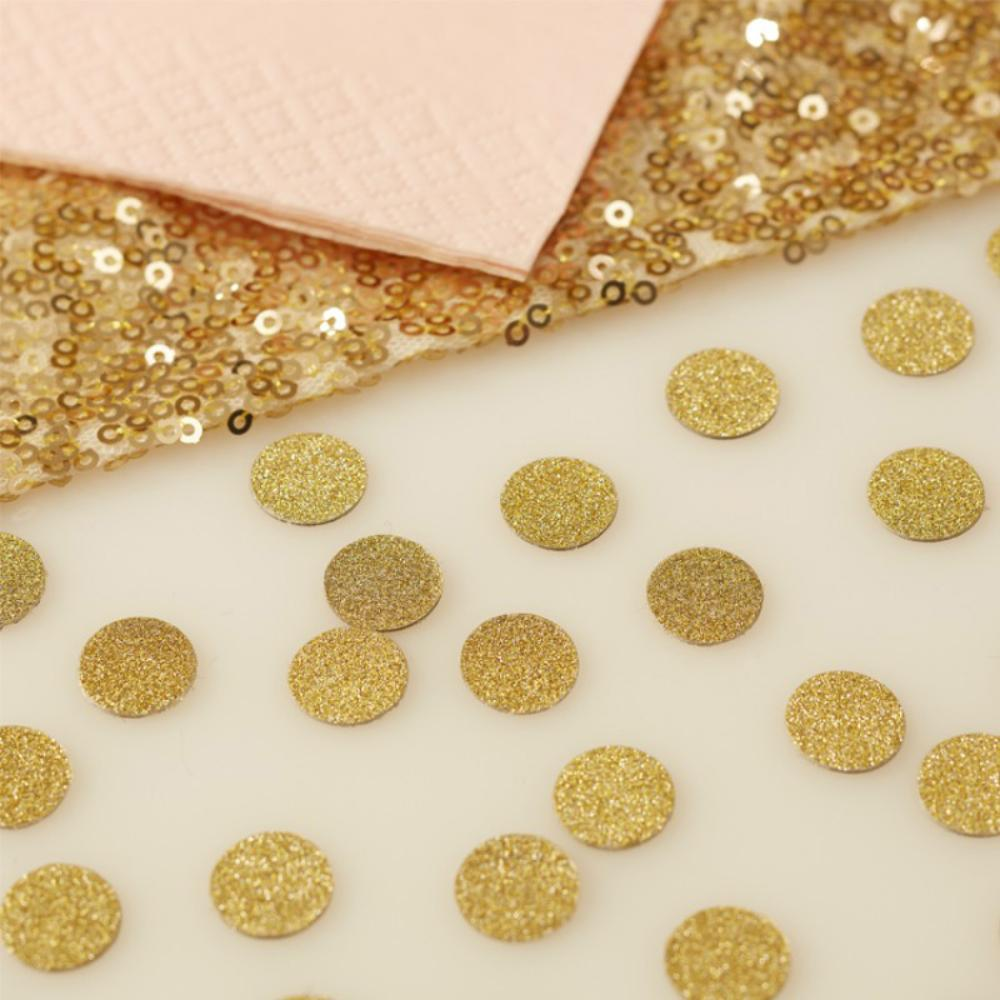 Glittering gold party confetti