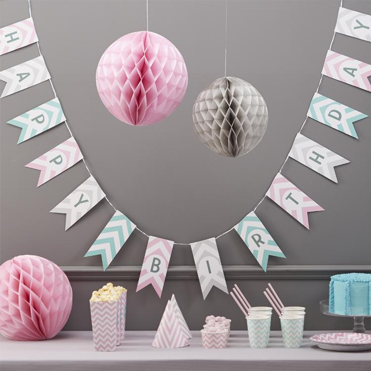 Chevron Divine Happy Birthday Bunting