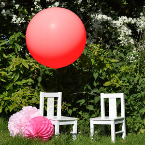 36 inch Giant Latex Balloon Cherry Red