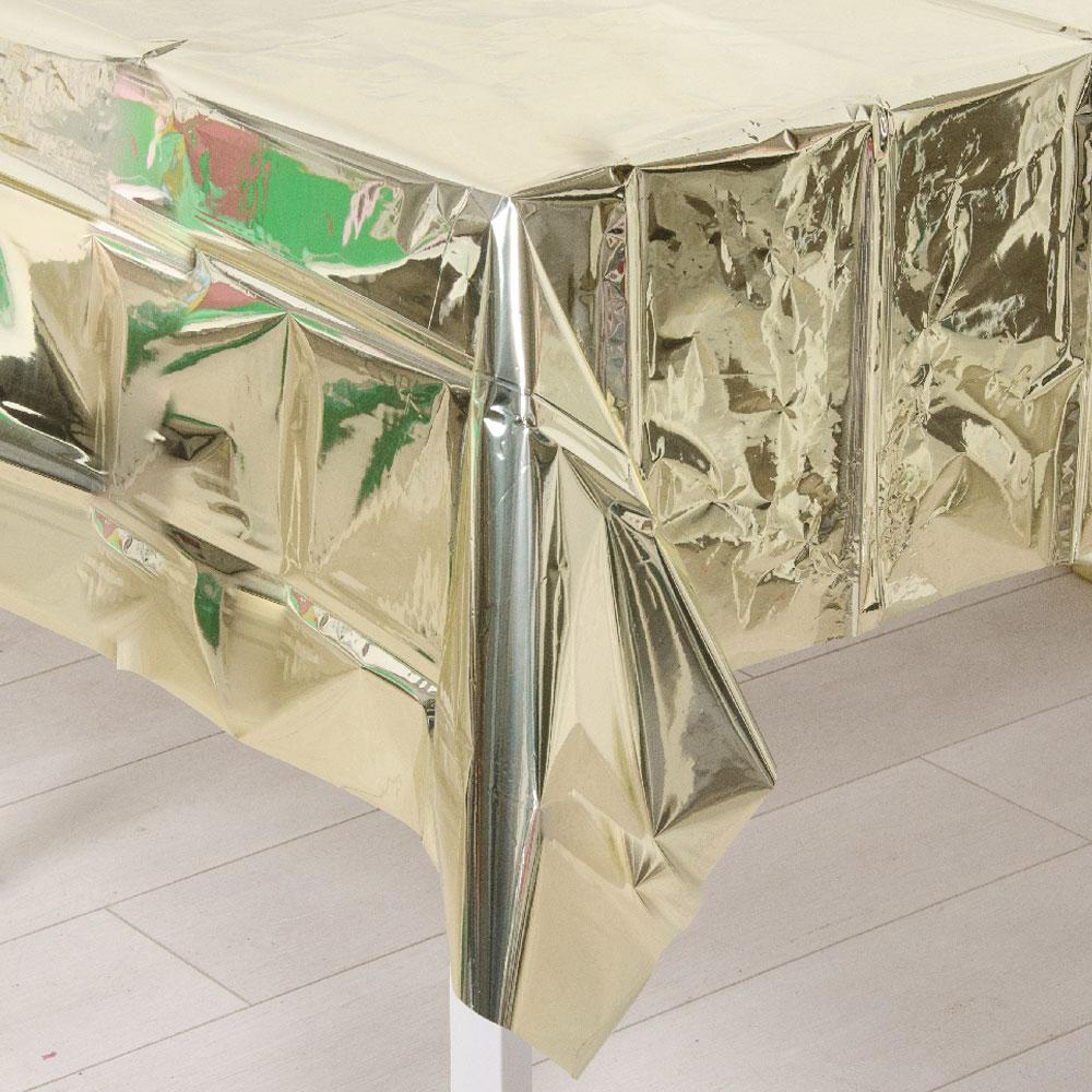 Metallic Gold Plastic Table Cover