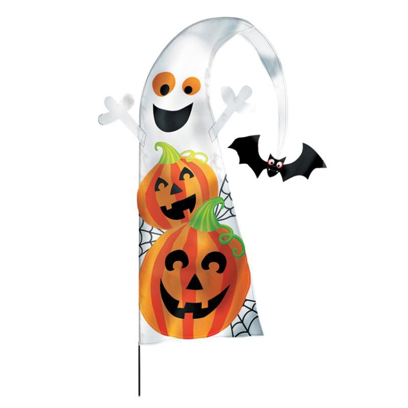 Family Friendly Spooky Garden Flag