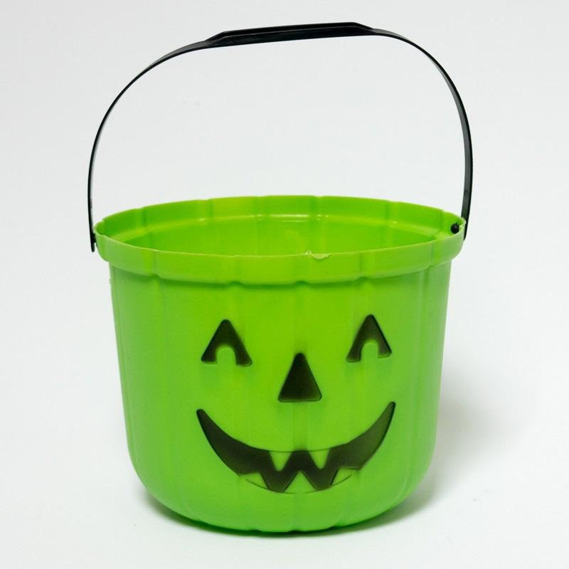 Green Halloween Pumpkin Bucket