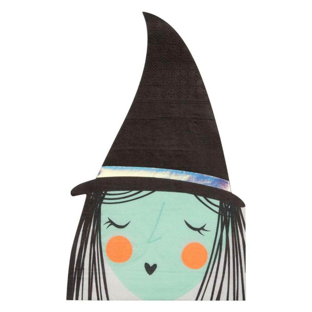 Happy Halloween Foiled Large Witch Napkins (x16)