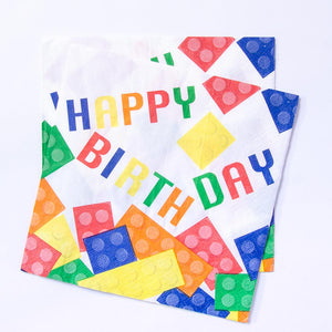 Block Party Happy Birthday Napkins (x16)