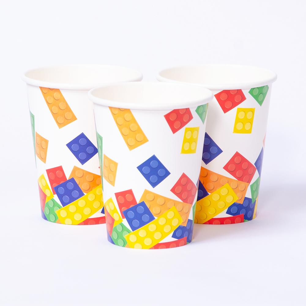 Block Party Paper Party Cups (x8)