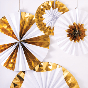 Giant Gold Pinwheel Decoration (x4)